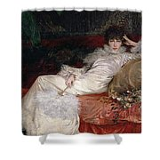 Sarah Bernhardt Shower Curtain by Georges Clairin