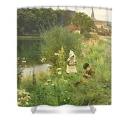 Saturday Afternoon Shower Curtain by Gunning King