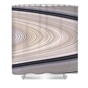 Saturns Ring System Shower Curtain by Stocktrek Images