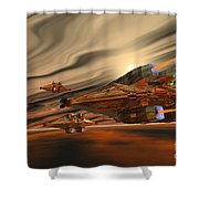 Scadlands Shower Curtain by Corey Ford