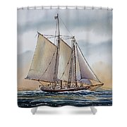 Schooner Stephen Taber Shower Curtain by James Williamson