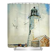 Scituate Light Shower Curtain by P Anthony Visco