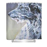 Scottish Deerhound Shower Curtain by Lee Ann Shepard