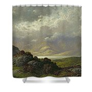 Scottish Landscape Shower Curtain by Gustave Dore