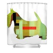 Scottish Terrier Shower Curtain by Naxart Studio
