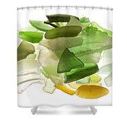 Sea Glass Shower Curtain by Fabrizio Troiani