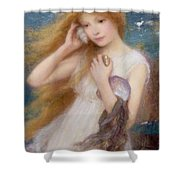 Sea Nymph Shower Curtain by William Robert Symonds