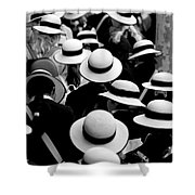 Sea Of Hats Shower Curtain by Avalon Fine Art Photography