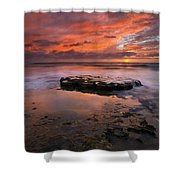 Sea Of Red Shower Curtain by Mike  Dawson