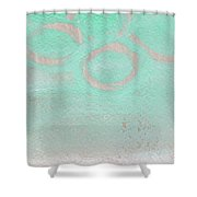 Seaglass Shower Curtain by Linda Woods