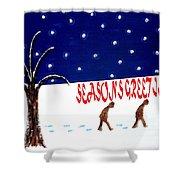 Seasons Greetings 3 Shower Curtain by Patrick J Murphy