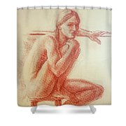 Seated At The Barre Shower Curtain by Sarah Parks