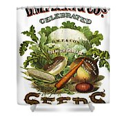 Seed Company Poster, C1800 Shower Curtain by Granger