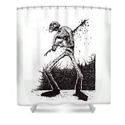 Self Inflicted Shower Curtain by Tobey Anderson