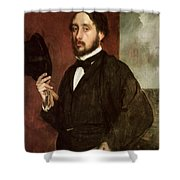 Self Portrait Shower Curtain by Edgar Degas