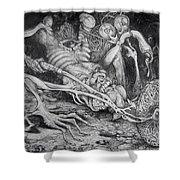 Selfpropelled Beastie Seeder Shower Curtain by Otto Rapp