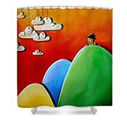Send In The Clouds Shower Curtain by Cindy Thornton