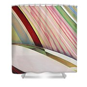 Sens 1 Shower Curtain by Muriel Dolemieux
