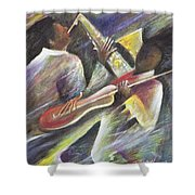 Session Shower Curtain by Ikahl Beckford