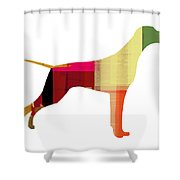 Setter Pointer Shower Curtain by Naxart Studio
