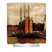 Setting Sail From Bristol Shower Curtain by Brian Roscorla