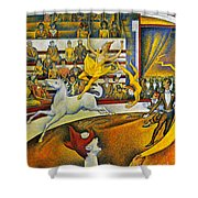 Seurat: Circus, 1891 Shower Curtain by Granger