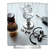 Seven Poducts Shower Curtain by Steven Dunn