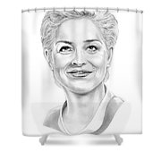 Sharon Stone Shower Curtain by Murphy Elliott