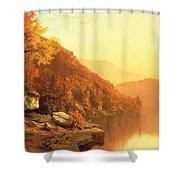 Shawanagunk Mountains Shower Curtain by Jervis McEntee