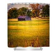 Shed In Sunlight Shower Curtain by Marilyn Hunt