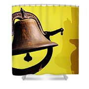 Ship's Bell Shower Curtain by Rebecca Sherman