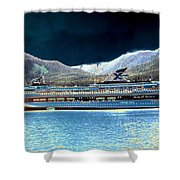 Shipshape 10 Shower Curtain by Will Borden