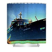 Shipshape 9 Shower Curtain by Will Borden