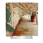 Shipyard Shower Curtain by Gaspar Avila