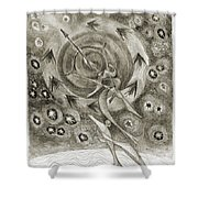 Shooting Stars Shower Curtain by Juel Grant