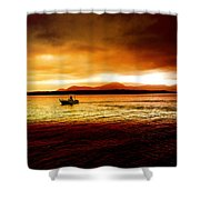 Shores Of The Soul Shower Curtain by Holly Kempe