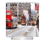 Sightseeing Along Powell Street In San Francisco California . 7d7269 Shower Curtain by Wingsdomain Art and Photography