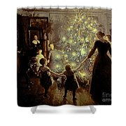 Silent Night Shower Curtain by Viggo Johansen