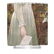 Silent Sorrow Shower Curtain by Walter Langley