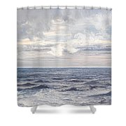 Silver Sea Shower Curtain by Henry Moore