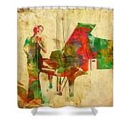Sing It Baby One More Time Shower Curtain by Nikki Smith
