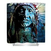 Sioux Chief Shower Curtain by Paul Sachtleben