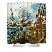 Sir Francis Drake Shower Curtain by Peter Jackson