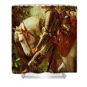 Sir Galahad Shower Curtain by George Frederic Watts