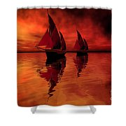 Siren Song Shower Curtain by Corey Ford