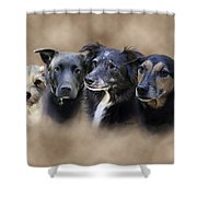 Sis's Buddies Shower Curtain by Barbara Hymer