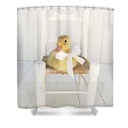 Sitting Pretty Shower Curtain by Amy Tyler