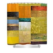 Skinny Color Study L Shower Curtain by Michelle Calkins