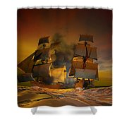 Skirmish Shower Curtain by Carol and Mike Werner