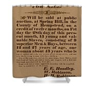 Slave Auction Shower Curtain by War Is Hell Store